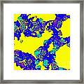 Colorful Abstract Yellow Blue Painting No.278 Framed Print
