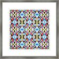 Colorful Angles Pattern Framed Print