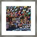 Colorful Art Store In Mexico Framed Print