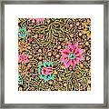 Colorful Batik Cloth Fabric Background  Framed Print
