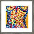 Colorful Bodyscape 1 Framed Print