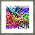 Colorful Cattails Framed Print