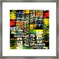 Colorful City Scene Framed Print