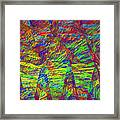 Colorful Computer Generated Abstract Fractal Flame Framed Print by Keith Webber Jr