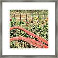 Colorful Fence Row Framed Print