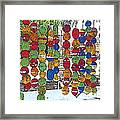 Colorful Fishing Floats Framed Print