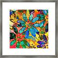 Colorful Floral Abstract IIi Framed Print