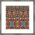 Colorful Folklore Pattern Framed Print