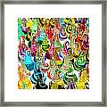 Colorful Glass Drops Framed Print