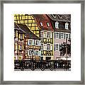 Colorful Homes Of La Petite Venise In Colmar France Framed Print