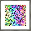 Colorful Ink And Watercolor Abstract Painting - Square Version Framed Print