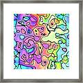 Colorful Ink And Watercolor Abstract Painting - Wide Version Framed Print