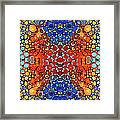 Colorful Layers Vertical - Abstract Art By Sharon Cummings Framed Print by Sharon Cummings