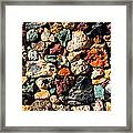 Colorful Rock Wall With Border Framed Print