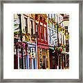 Colorful Shops Framed Print