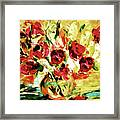 Colorful Spring Bouquet - Abstract  Framed Print