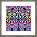 Colorful Symmetrical Abstract Framed Print