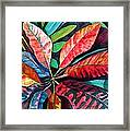 Colorful Tropical Leaves 2 Framed Print