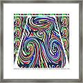 Colorful Twirl Wave Shield Design Background Designs  And Color Tones N Color Shades Available For D Framed Print