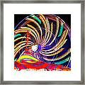 Colorful Wheel Of Lights Framed Print