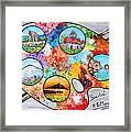 Colori Di Sicilia Framed Print