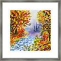 Colors Of Russia Autumn  Framed Print by Irina Sztukowski