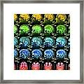 Coloured Mri Scans Of A Healthy Human Brain Framed Print