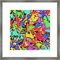 Coloured Oak Leaves By M.l.d. Moerings 2009 Framed Print