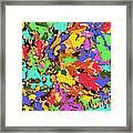 Coloured Oak Leaves By M.l.d. Moerings 2009 Framed Print