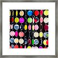 Colourful Circles Framed Print