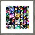 Colourful Fractal Jewels Framed Print