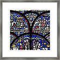 Colourful Stained Glass Window In Framed Print by Terence Waeland