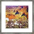 Colours Within The Canyon Framed Print by Tara Turner