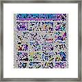 Comics Strip Abstract Framed Print