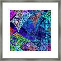 Computer Generated Abstract Julia Fractal Flame Framed Print