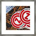 Con Decals Framed Print