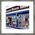 Coney Island Beach Shop Framed Print