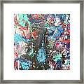 Confusion Dark Blue Framed Print