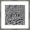 Confusion In Tangles  Framed Print