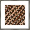 Copper Electron Micrograph Grid Framed Print