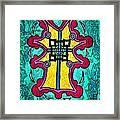 Coral Cross Framed Print