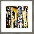 Corner Of Pensione And Bar Framed Print