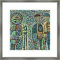 Cosmic Creation Of Adam And Eve Framed Print