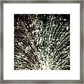 Cosmic Ray Collision Framed Print
