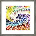 Cosmic Waves Framed Print