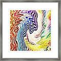 Cosmic Waves Vertical Framed Print