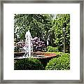 Cottage Garden Fountain Framed Print
