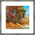 Country Curves And Vultures Paint Framed Print