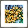 Country Floral Framed Print