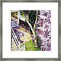 Courtyard With Cherry Blossoms Framed Print
